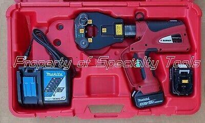 Burndy Pat81kftli Hydraulic Battery Operated 6 T Dieless Crimper Crimping Tool