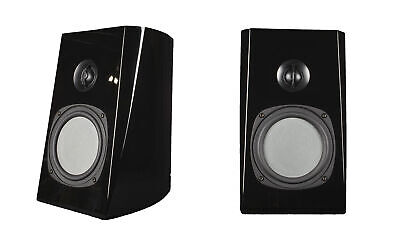 "2 x Phase Tech PC1.5 6.5"" Black Bookshelf Speaker 150W 4 Ohm Home Audio"