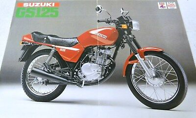 SUZUKI GS125cc MOTORCYCLE SHOP PAMPHLET ref 234 b2g3