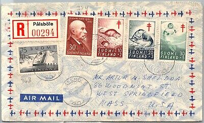 GP GOLDPATH: FINLAND COVER 1961 AIR MAIL REGISTERED LETTER _CV674_P05
