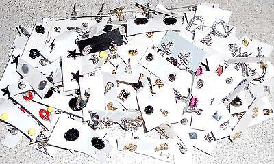 Wholesale Earrings Lot Pierced New 100 Pairs Assorted Stud Rhinestone Lot