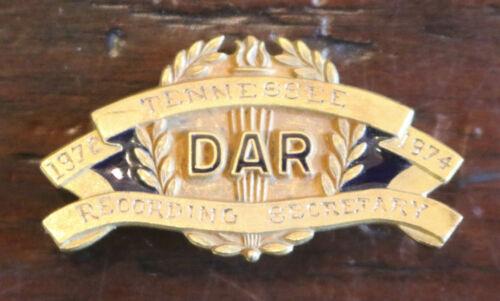 Vintage DAR Daughters American Revolution Recording Secretary Pin JE Caldwell GF