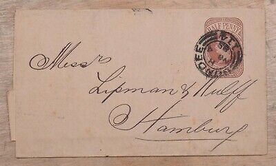 MayfairStamps Great Britain 1885 Half Penny to Hamburg Germany Used Stationery W