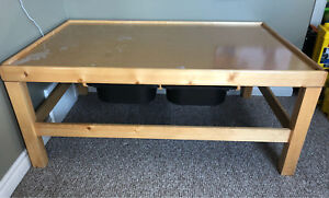 Very well built LEGO or Train or Doll house table with storage