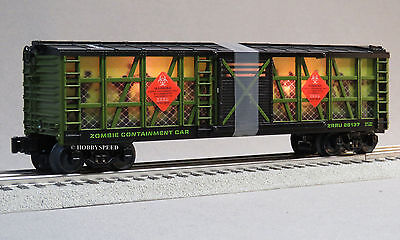 LIONEL ZOMBIE APOCALYPSE SURVIVORS CONTAINMENT BOXCAR o gauge train 6-82099 B