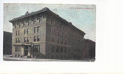 Y M C A Building    Richmond Indiana   Mailed 1911  Postcard 853 ()