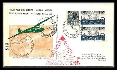 GP GOLDPATH: ITALY COVER 1956 FIRST FLIGHT COVER _CV691_P03