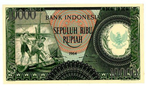 Indonesia  ... P-101b ... 10.000 Rupiah ... 1964 ... *UNC*.
