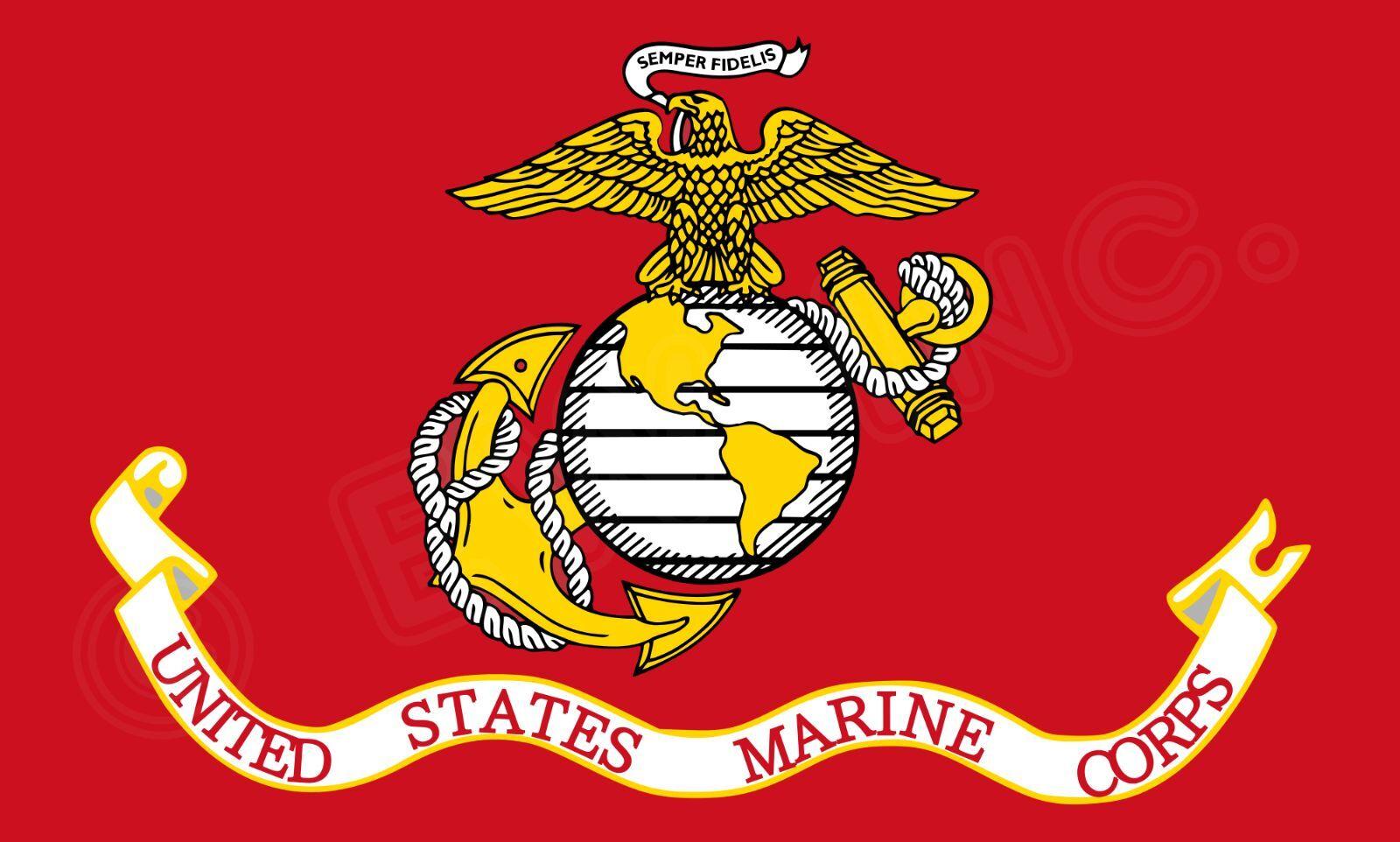 USMC UNITED STATE MARINE CORPS FLAG 3 X 5 SEMPER FI FIDELIS