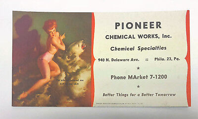 1950's Gil Elvgren Pin Up Blotter Card