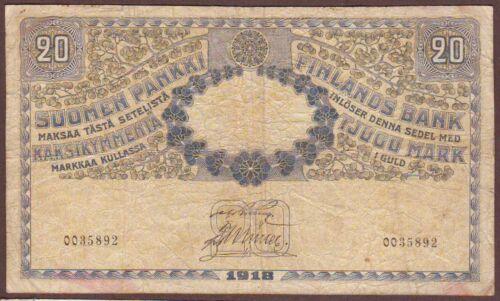FINLAND  20 Markkaa  1918