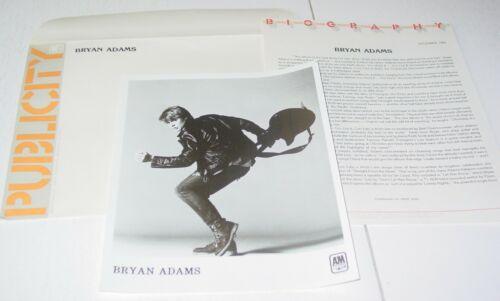 Bryan Adams Vintage Original  Press Photo w/paperwork A&M Records  Pop Rock