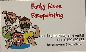 Funky faces facepainting Tootgarook Mornington Peninsula Preview