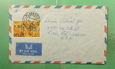 DR WHO 1976 BELIZE PLACENCIA AIRMAIL TO USA  g20882