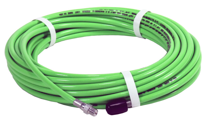 Piranha® 1/8in. x 50in. 4000PSI Thermoplastic Sewer Jetter Hose NPT Solid