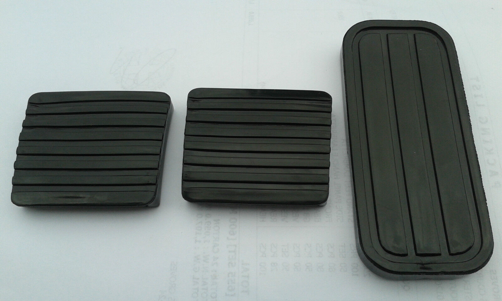 Car Parts - VW MK1 RABBIT BRAKE CLUTCH AND GAS PEDAL RUBBERS BLACK GTI GOLF
