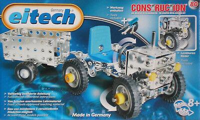 Eitech Traktor mit Hänger Metallbaukasten Construktionsbaukasten 80