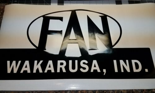 FAN TRAVEL TRAILER vinyl decal vintage camper glamping Wakarusa