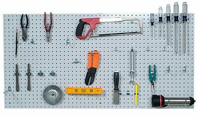 Duraboard 2 X 4 Peg Board With 36 Hooks Wall Storage Tool Organizer White