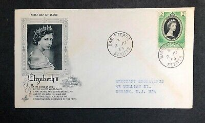 St.Chrristopher Nevis Anguilla 1953 Coronation FDC First Day cover
