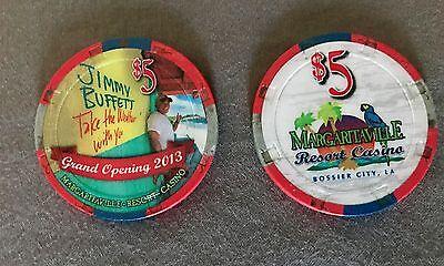 "Jimmy Buffett Margaritaville Casino - ""WOW"" Grand Opening $5 Poker Chip 2013"