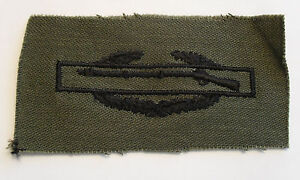 VIETNAM TO PRESENT COMBAT INFANTRY BADGE EMB  SUBDUED TWILL UNCUT