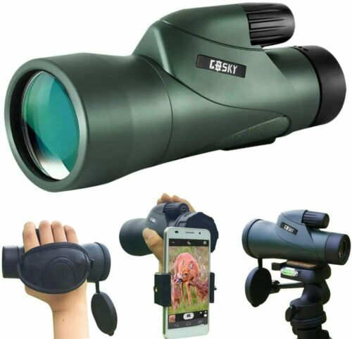 Gosky 12x55 High Definition Monocular Telescope with Phone Holder