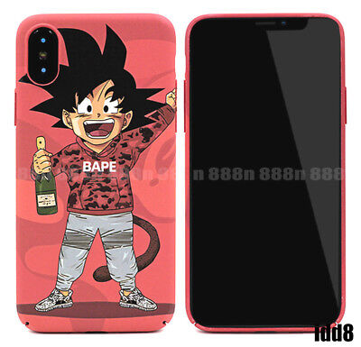 Dragon Ball Z Son Goku A Bathing Ape Phone Case For iPhone XS Max XR 7 8 Plus 6