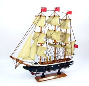 Wooden model of HMS Warrior, 33cm, nautical, ship