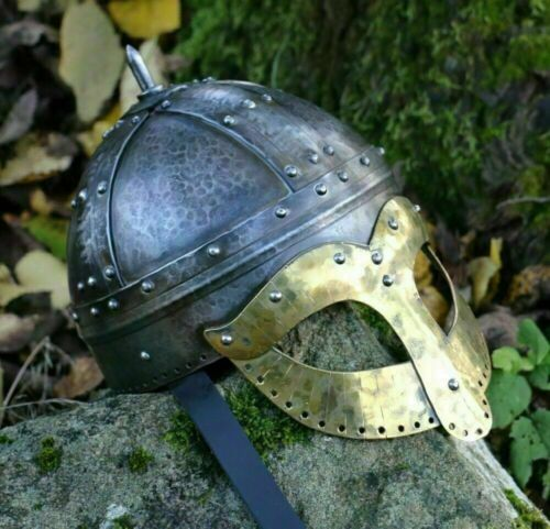 Medieval Collectible Viking Unique Style spectacle warrior Armor helmet