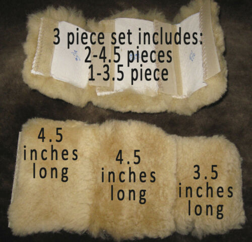 """Natural Sheepskin Strap Pads Cover 1"""" Horse Gear Grazing Muzzle Halters Bridles"""