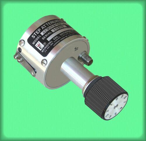 Weinschel AC9009-09-11 step attenuator 0-9 decibels 50 ohm SMA female 3/8 panel