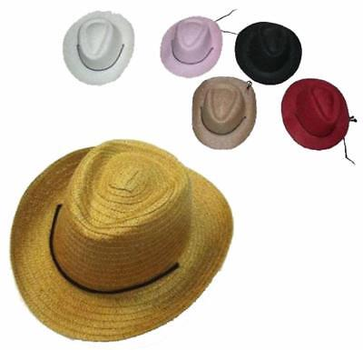Cowgirl Hats For Kids (6 CHILDRENS COWBOY / COWGIRL COLORED HATS wholesale bulk lot kids western)