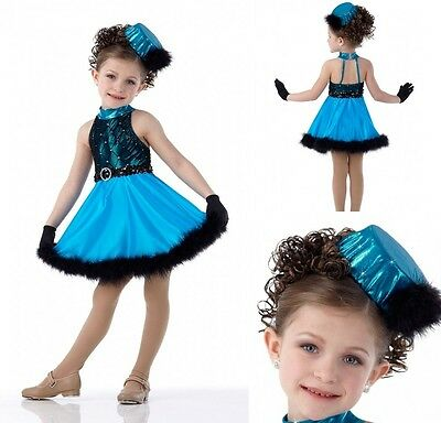 All Grown Up Dance Costume Ballet Tap Dress Hat & Gloves Child Medium & - Grown Up Baby Costumes