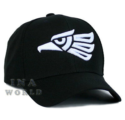 Mexican hat Hecho En Mexico Eagle Snapback Curved bill Baseball cap- Black/White
