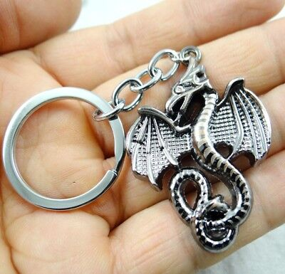 52*33MM Hand-carved Dragon alloy Crafts, Key Chain, Key Ring  A32