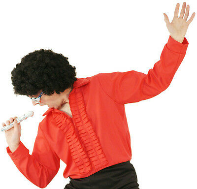 1970's/80's Tom Jones Tribute Act or Fancy Dress RED Ruffle Front dress Up Shirt](Tom Jones Fancy Dress Costume)