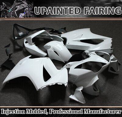 For Honda VFR800 VFR 800 2002-2012 09 Unpainted White Fairing Kit ABS Body Work
