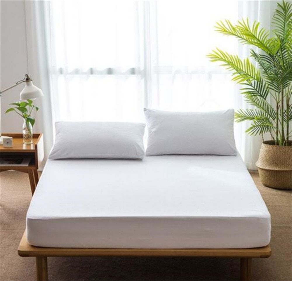 cotton mattress cover waterproof bed padded antibacterial