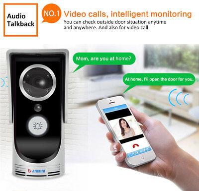 Wireless Phone Door Bell Camera WiFi Smart Video Intercom Ring Doorbell IR-CUT Intercom-ring