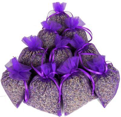 (49,95€/1kg) 10x Duftsäckchen Lavendelsäckchen je 20g Lavendel Organzasäckchen