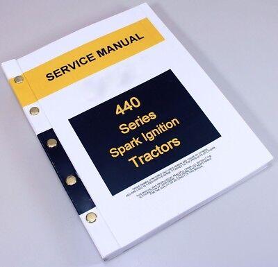 Service Manual For John Deere 440 440i 440ic Industrial Tractor Crawler Repair