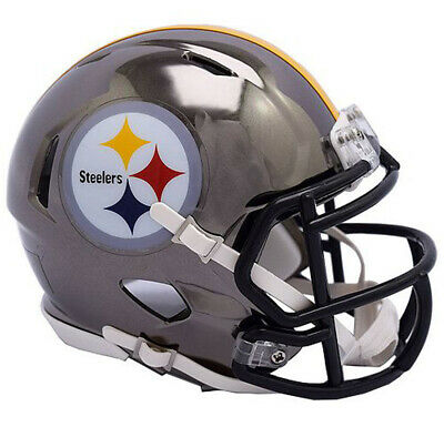 Pittsburgh Steelers Chrome Speed Mini Helmet New In Box 1178