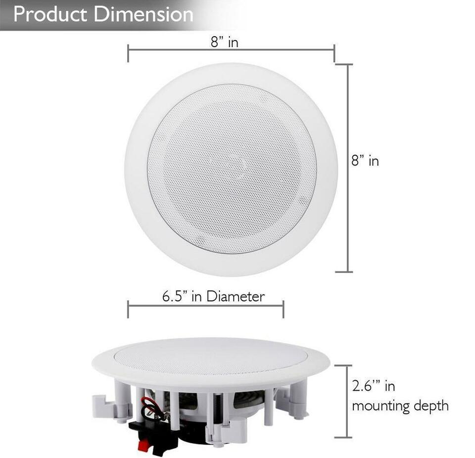 Pyle Pdicbt552rd Bluetooth Ceiling Speakers Easy Surround Sound Wiring Your Home For Listing Item