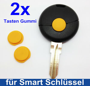 2x-Llave-TECLA-PULSADOR-GOMA-para-Smart-Fortwo-MC01-450-Mando-a-distancia