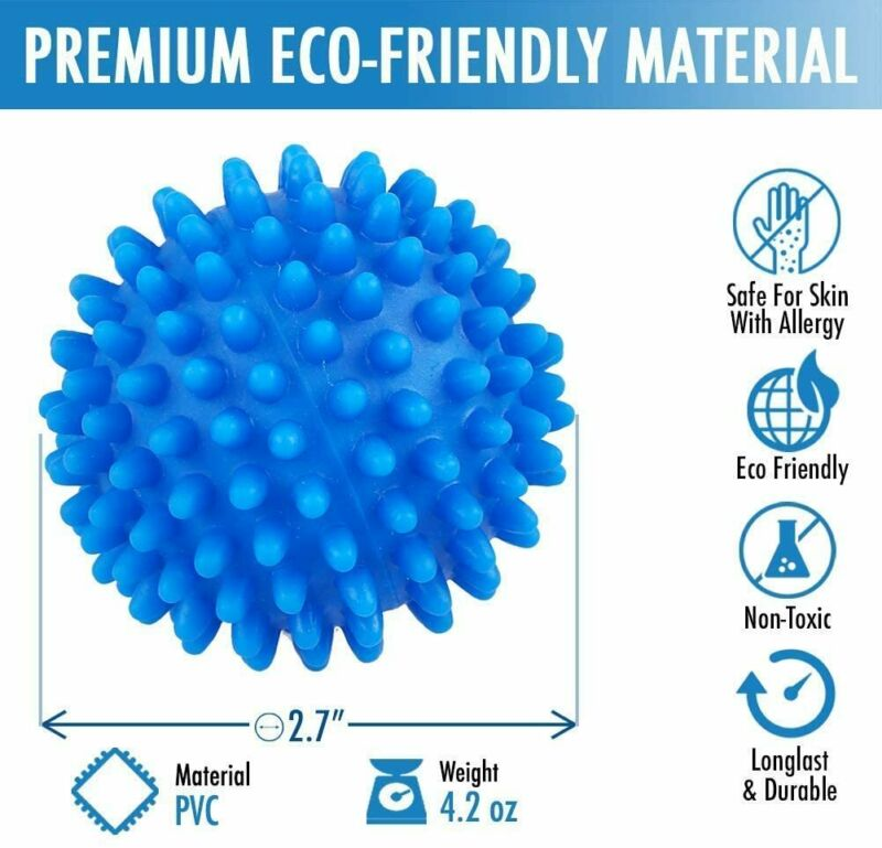 Blue PVC Dryer Balls Laundry Washing Drying Fabric