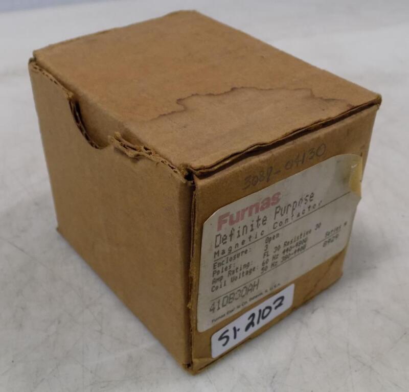 FURNAS 3P 30/30A 480V DEFINITE PURPOSE MAGNETIC CONTACTOR 41DB30AH NIB