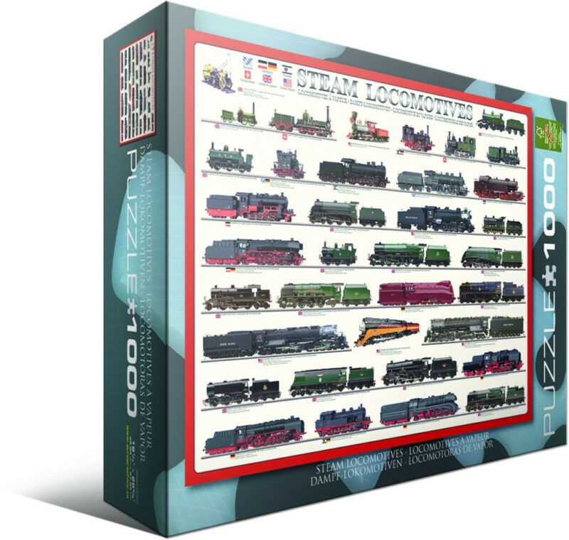 Steam Locomotive 1000 Piece Jigsaw Puzzle by Eurographics Trains Model Electric