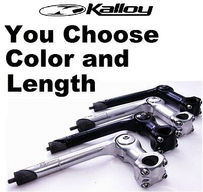 Kalloy Adjustable Quill  0 60  Bike Stem  1 1 8   25 4 X 90  110Mm Black  Silver