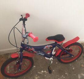Kids spiderman bike 16 inch